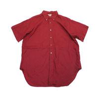 60's McGREGOR Dot  Print Cotton B.D.Shirts (L) マックレガー  幾何学模様ドットプリント 3点留め ボタンダウンシャツ ショートスリーブ