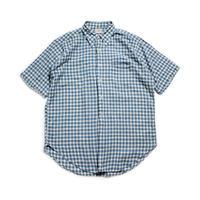 60's J.PRESS × Hathaway Plaid Cotton S/S Shirts (L)  Jプレス ハサウェイ チェック ショートスリーブシャツ