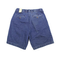 NOS 90's J.C. PENNEY ST.JOHN'S BAY PLEATED DENIM SHORTS (34) JCペニー 2タック デニムショーツ