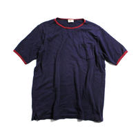 90's L.L.Bean Cotton Pique T-Shirts with Pocket MADE IN USA (L) LLビーン 鹿の子 ポケットTシャツ ポケT 紺