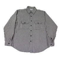 70's~ FIVE BROTHER HEAVY FLANNEL SHIRT (L) ファイブブラザー ギンガムチェック ヘビーネル