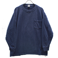 90's TOWNCRAFT Cotton L/S T-Shirts with Pocket Navy (L) JCペニー タウンクラフト  コットン ポケット ロングスリーブTシャツ  紺