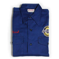 NOS 50's Wascott H.B.T WORK SHIRTS (14 1/2) デッドストック シボレー ヘリンボーン ワークシャツ チェーンステッチ