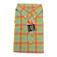 NOS 60's Mac Taqqart PLAID COTTON PULLOVER S/S B.D.Shirts (M) デッドストック チェック コットン プルオーバー ボタンダウンシャツ 半袖