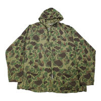 70's KAMO Duck Camo Zip Up Jacket With Hoodie (L)  ダックハンターカモ