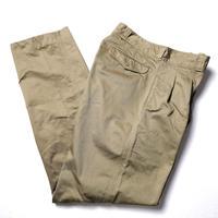 NOS 60's 70's FRENCH ARMY Cotton Chino Pants (80L)  デッドストック フランス軍 コットン チノパンツ M-52