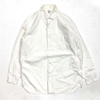 60's PILGRIM Cotton L/S Shirts (about M) シアーズ ピルグリム マチ付き コットン 白シャツ