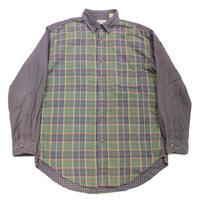90's ST.JOHN'S BAY MULTI COLOR PLAID COTTON FLANNEL SHIRT (L) JCペニー クレイジーパターン フランネルシャツ マルチカラー