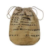 〜40's WW2 MOLESKIN BARRACK  BAG With Stencil モールスキン ランドリーバッグ バラックバッグ ステンシル