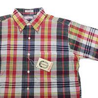 NOS 60's Hathaway INDIA MADRAS S/S B.D.Shirts (M) デッドストック ハサウェイ マドラスチェック ボタンダウンシャツ