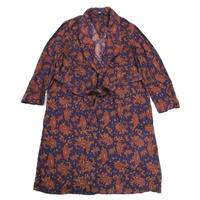 NOS 60's Unknow Paisley Pattern Gown (L) デッドストック ペイズリー コットンガウン
