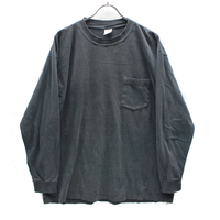 90's TOWNCRAFT Cotton L/S T-Shirts with Pocket Black (L) JCペニー タウンクラフト  コットン ポケット ロングスリーブTシャツ  黒