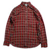 60's KENNINGTON  COTTON S/S B.D.Shirts (L) ケニントン コットン 3点留め ボタンダウンシャツ