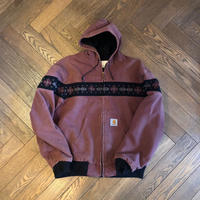 "90's ""Carhartt"" Active Jacket ネイティブ柄 USA製 ☆入り"