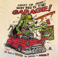 """90's """"RAT FINK"""" Tee 染み込みプリント MADE IN USA"""