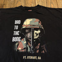 """90's〜 """"BAD TO THE BONE"""" Tee  MADE IN USA"""