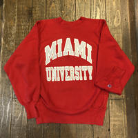"80's Champion REVERSE WEAVE  ""MIAMI UNIVERSITY"" トリコタグ"