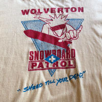 """80's """"SNOW BOARD PATROL"""" Tシャツ MADE IN USA"""
