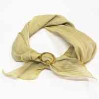 スカーフ / 万筋 縞 檸檬
