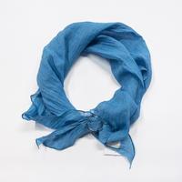 スカーフ / 万筋 縞 青