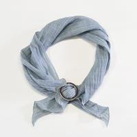 スカーフ / 雨絣 灰