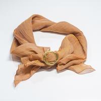 スカーフ / 万筋  縞 橙