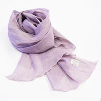 ストール / 万筋 縞 淡紅紫 / XL