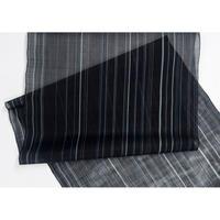 【在庫有り展示品】能登上布  着物反物 / 流縞 黒