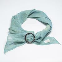 スカーフ / 万筋  縞 薄青緑