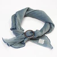 スカーフ / 万筋 縞 青緑