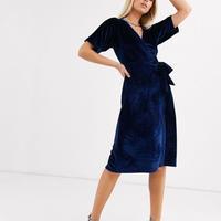 ドレス ひざ丈ドレス ベルベット素材
