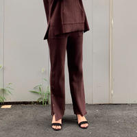 BOOTCUT RIB PANTS【WOMENS】
