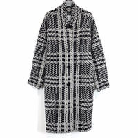 BIG CHECK KNIT COAT【WOMENS】