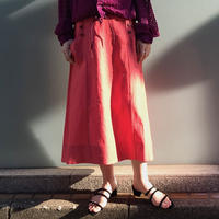 BELTED LINEN SKIRT【WOMENS】
