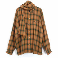 SOUTIEN COLLAR CHECK STOLE SHIRT【MENS】