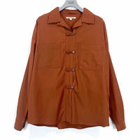 OPEN COLLAR CHINA SHIRT【WOMENS】