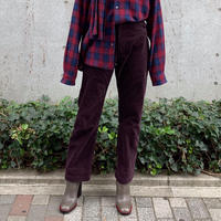 CORDUROY HIGH WAIST 5POCKET PANTS【WOMENS】