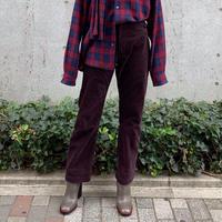 CORDUROY HIGH WAIST 5POCKET PANTS【WOMENS】