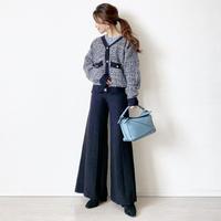 knit pants 〈black〉