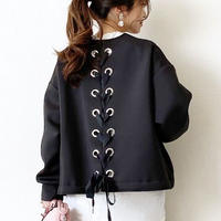 lace up blouson(black)