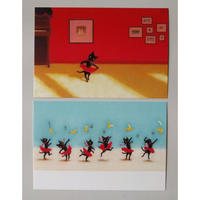 牧野千穂ポストカードセット:黒猫