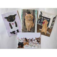 町田尚子ポストカード:キジトラとサビ(4種類各1枚)