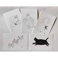 yamyam「cat」ポストカードセット(5種類)