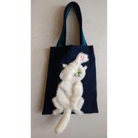 谷みゆき:猫パンチバッグ(白猫/黒猫)
