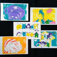きくちちきポストカードセット「いちにのさん」5枚組