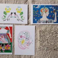 マルーポストカードセット5枚組:植物