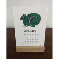 ミロコマチコ:卓上カレンダー2021(台付)