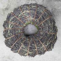 二名良日:黒米(古代米)のリース