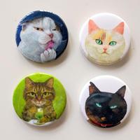 町田尚子:猫缶バッジ4種