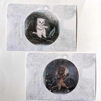 つじにぬき:猫柄ポストカード2種類1セット